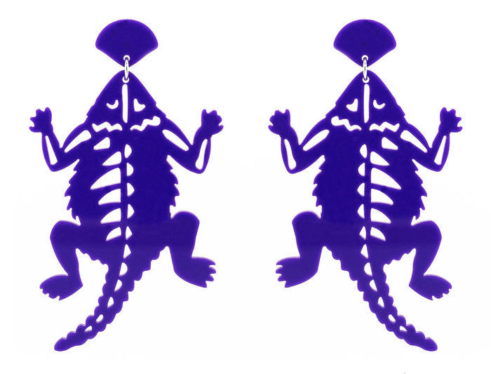 TCU Purple Acrylic Horned Frog