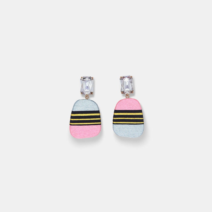 Mismatched Hand Wrapped Earrings in Carmela