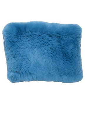 Rex Rabbit Fur Funnel in Knock Out Blue