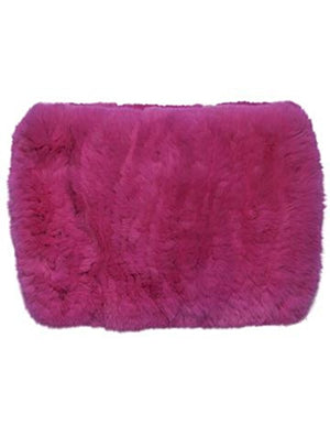 Rex Rabbit Fur Funnel in Knock Out Pink