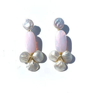 Keystone Earring in Blush