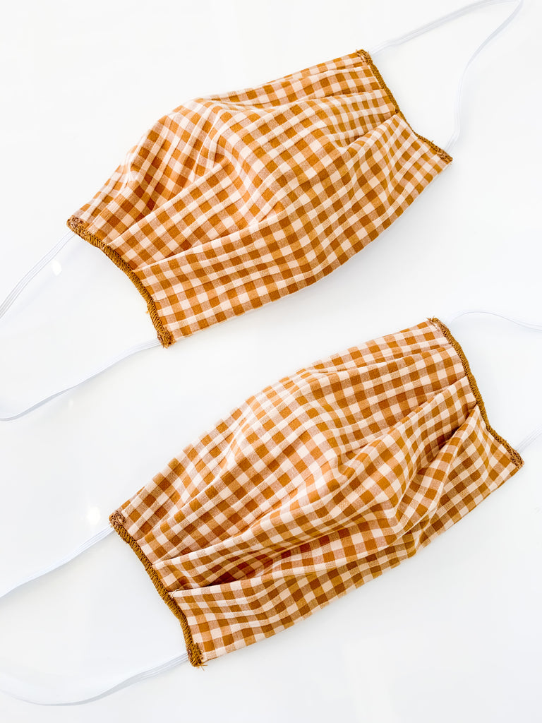 Fabric Face Mask in Gingham