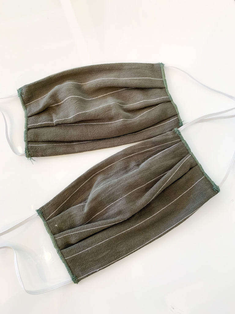 Fabric Face Mask in Olive