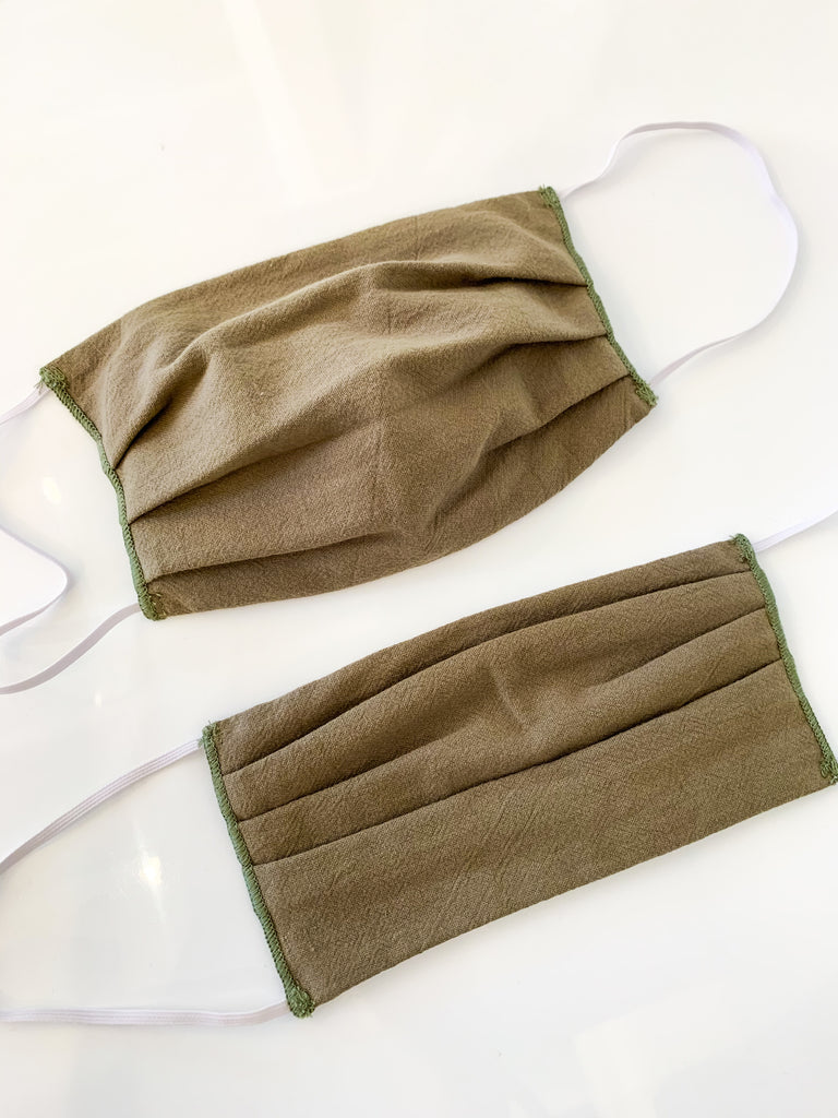 Fabric Face Mask in Camo Green