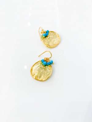 Solange Earrings in Turquoise
