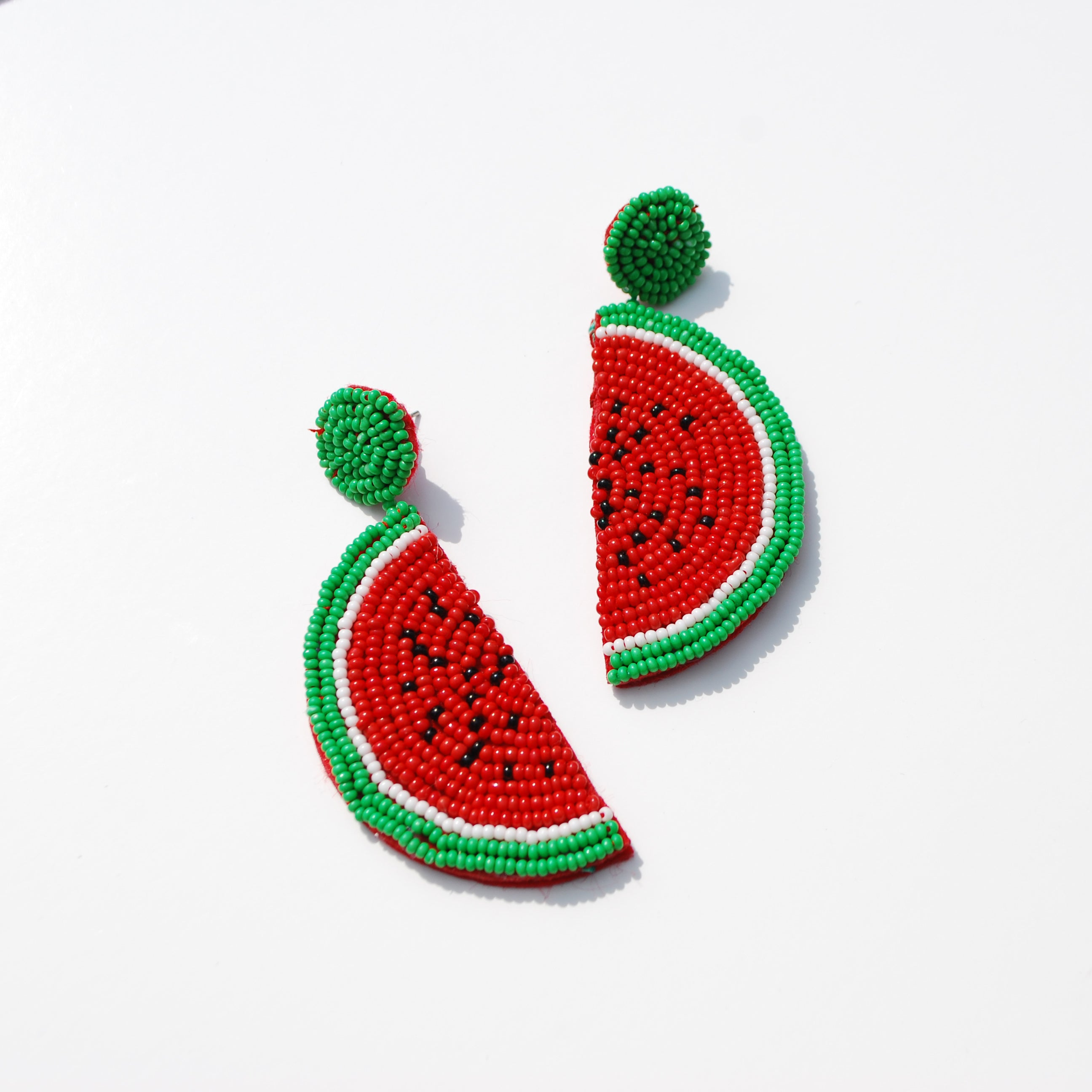 Beaded Watermelon Earring