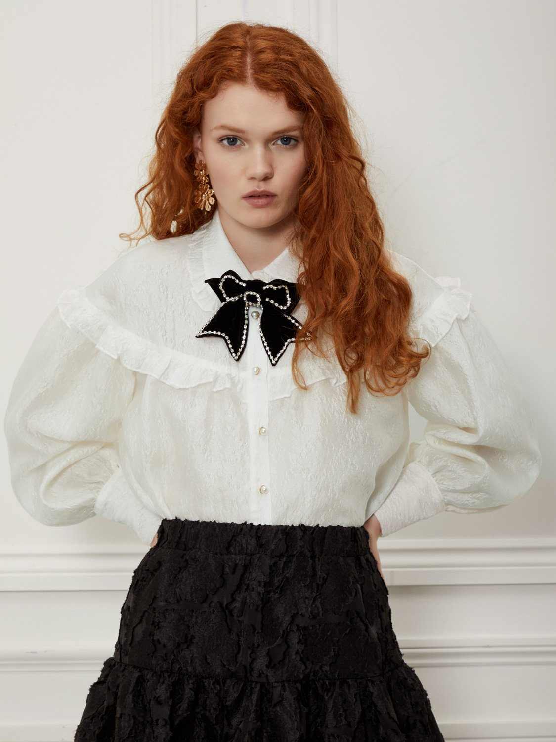 Fancy Footwork Bow Blouse