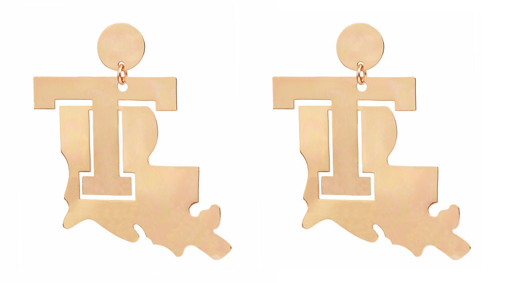 Louisiana State with T Earring