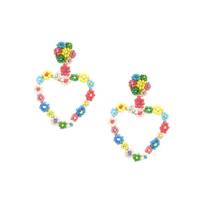 Sublime Heart Earring in Multi