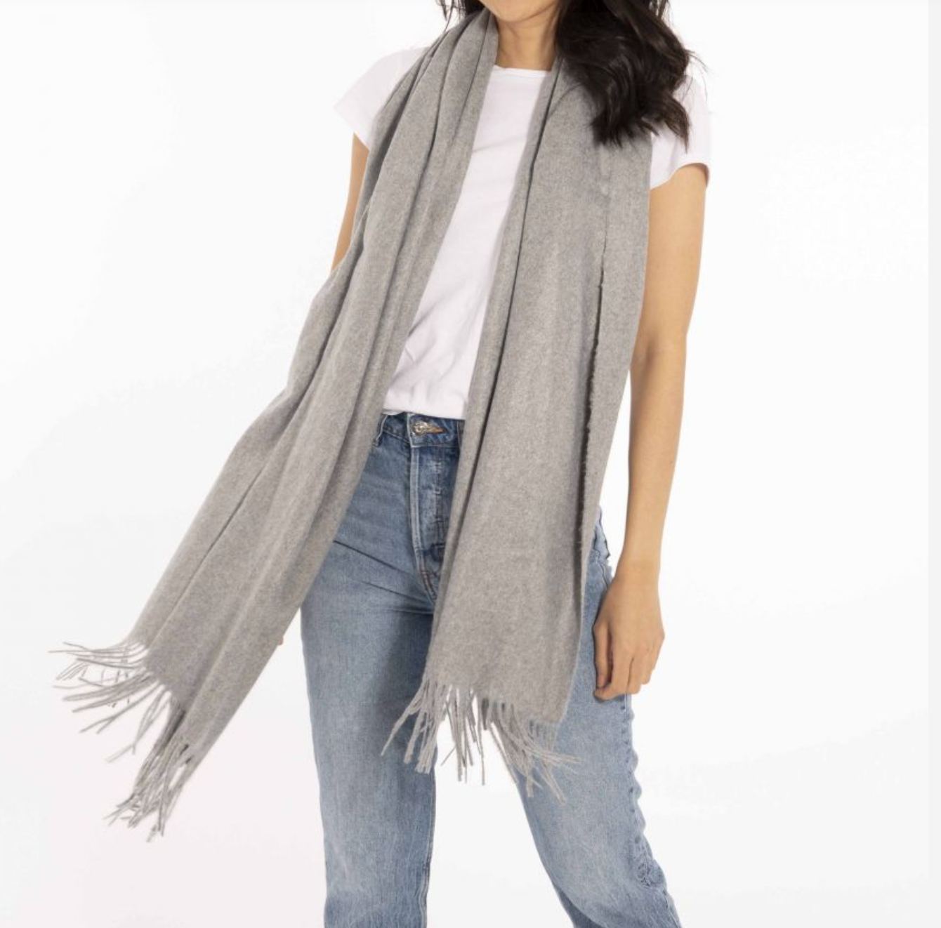 Wrapped Up In Love - Boxed Scarf in Grey