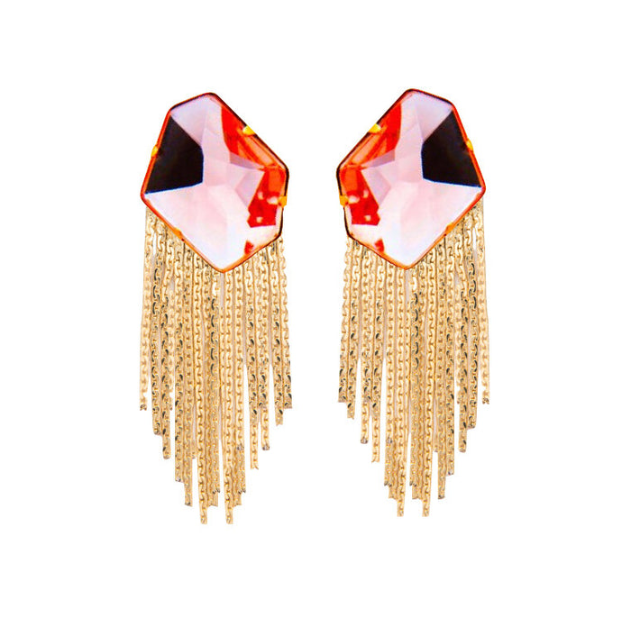 Rayito Earrings in Coral