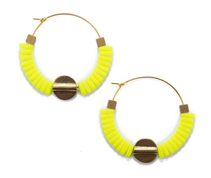 Neon Yellow Hoop -Sale