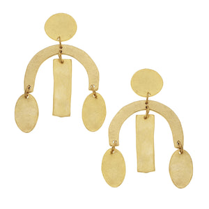 Gold Contemporary Inspired Earrings