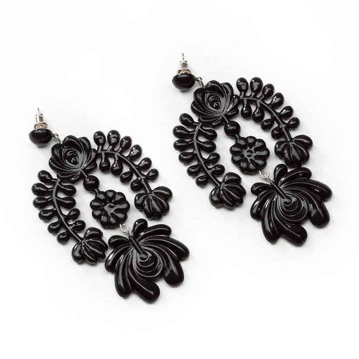 Black Garland Earrings - sale