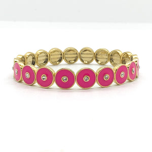 Round and Round Bracelet in Hot Pink