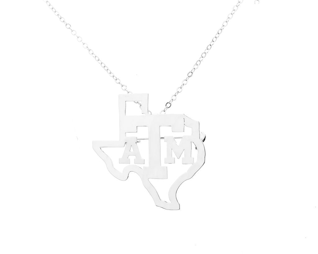 Texas A&M State Necklace/Brooch Combo