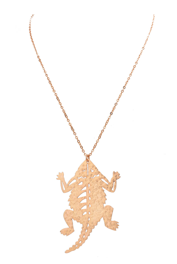 TCU Large Horned Frog Necklace