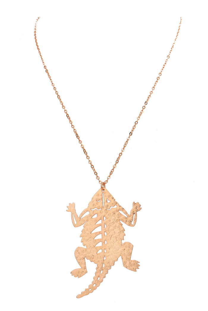 TCU Horned Frog Necklace