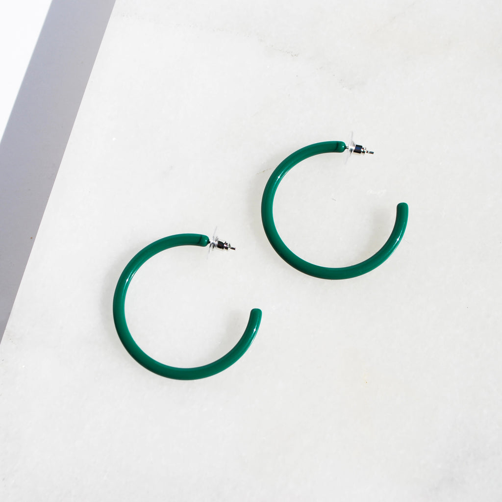 Hunter Green Acrylic Hoop - Sale