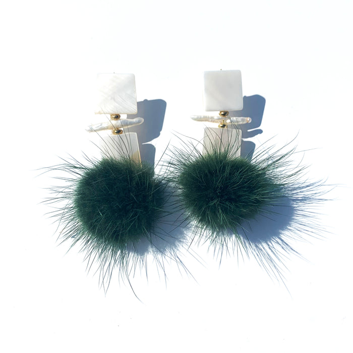 Ohbe Joyful Earring in Hunter Green