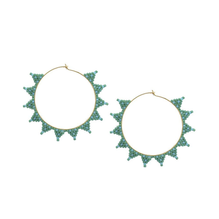 Shooting Star Earring in Teal