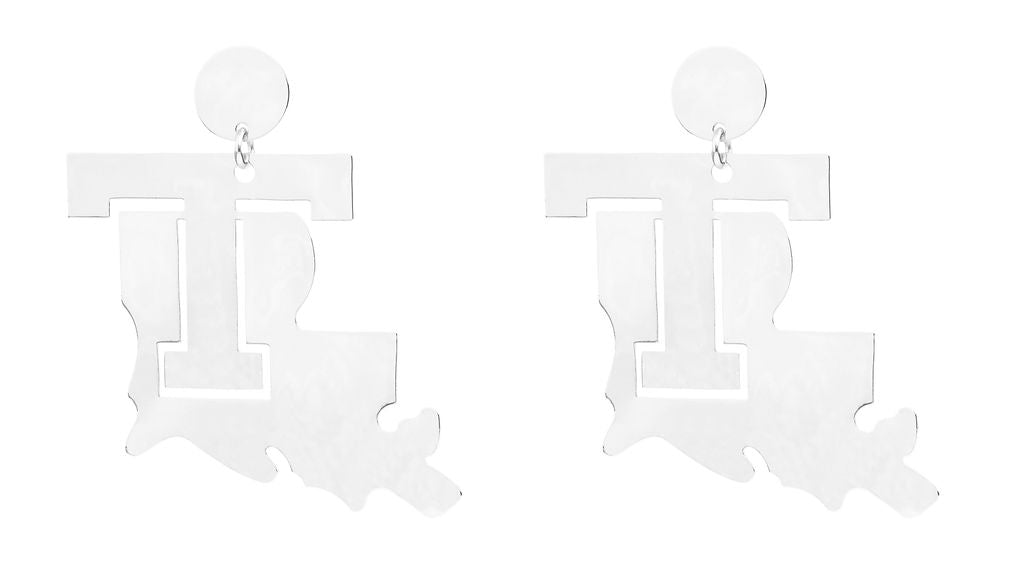 Louisiana Tech State with T Earring
