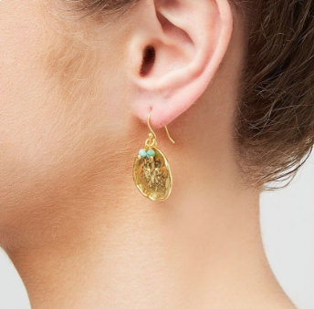 Solange Earrings in Chrysoprase