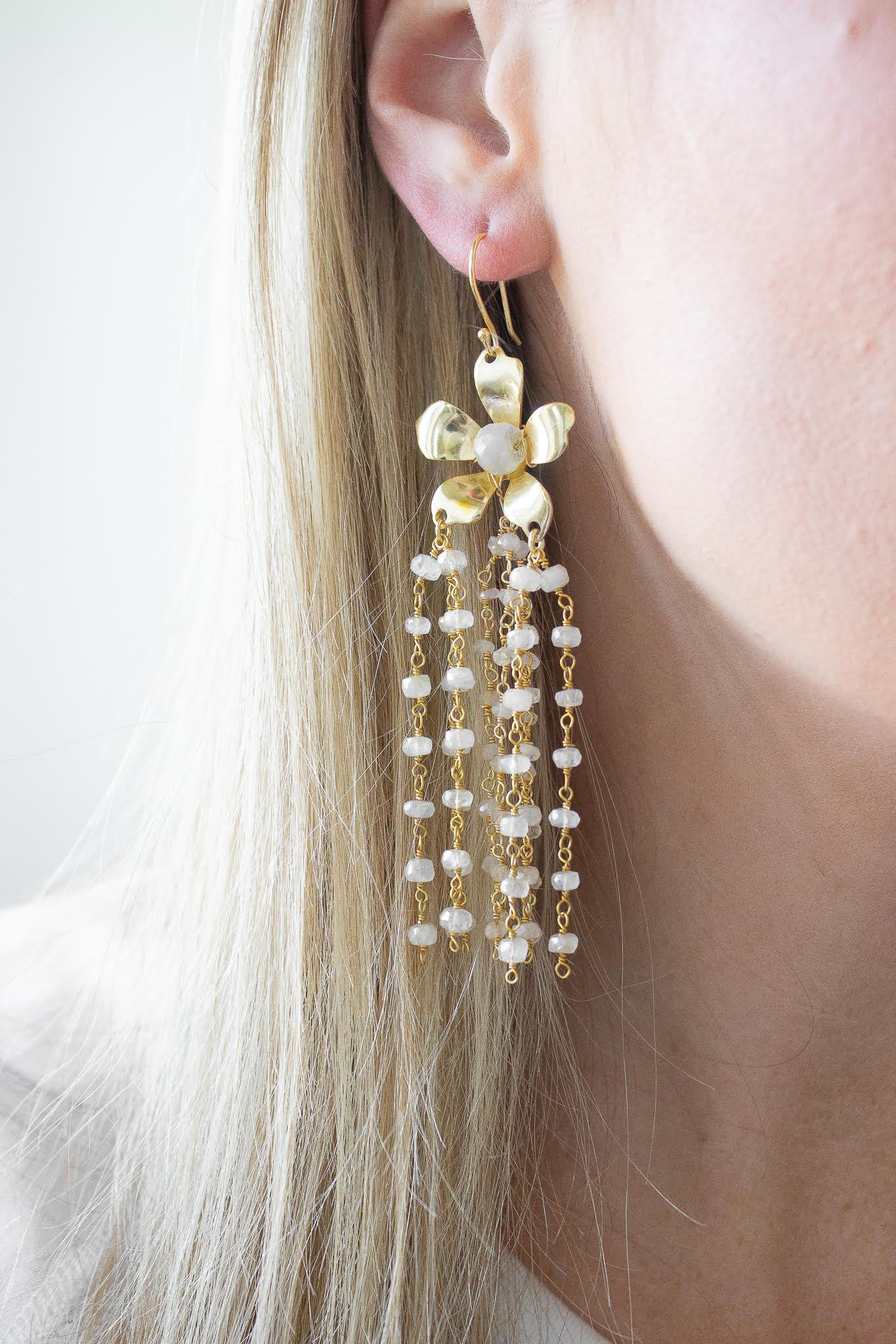 Mystic Moonstone Natalie Earrings