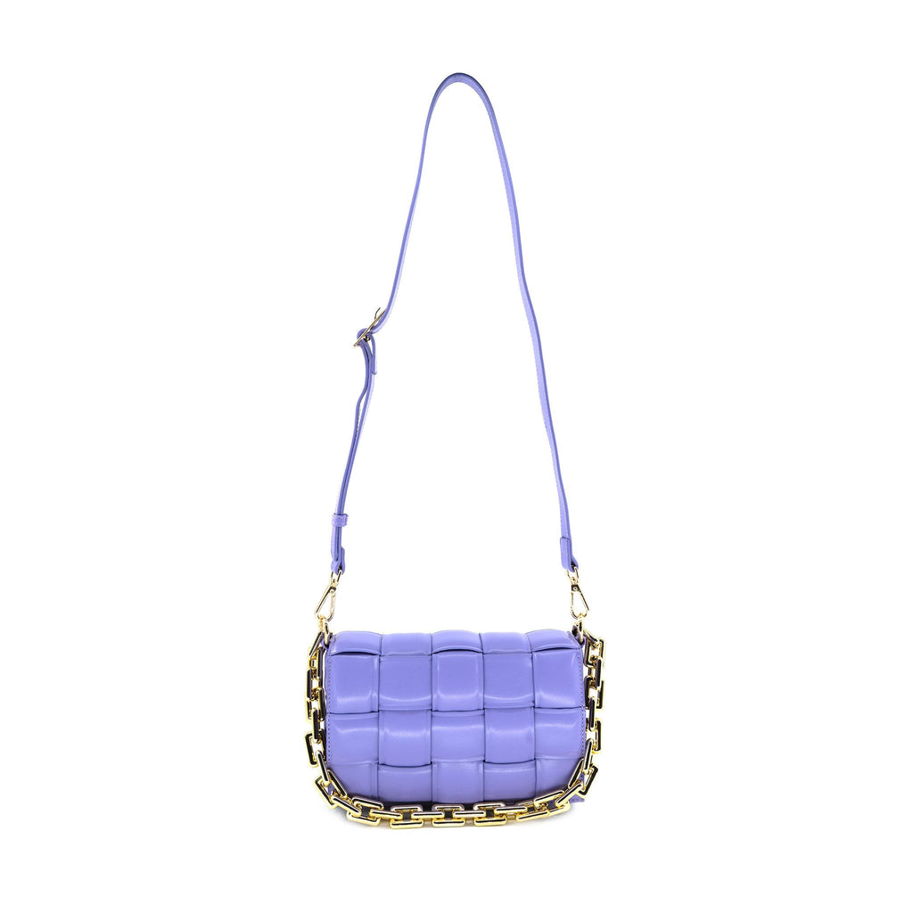 Woven Chain Link Bag in Purple