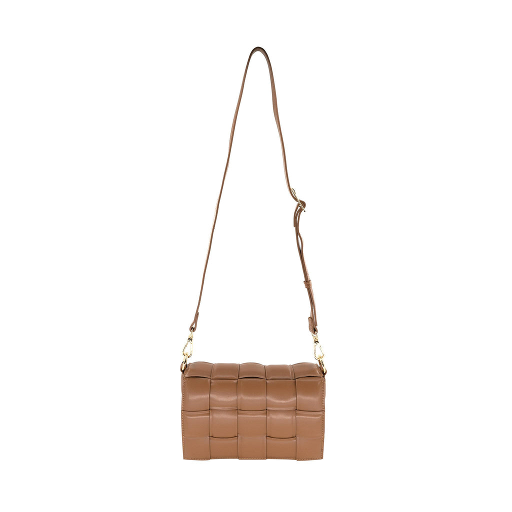 Woven Chain Link Bag in Tan