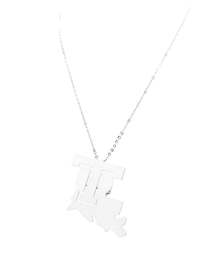 Louisiana Tech Necklace/Broach Combo Silver