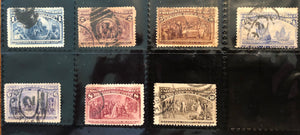 STAMPS - USA -1893 COLUMBIAN Exposition - Collection of USED Singles