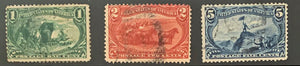 STAMPS - 1898 Trans Mississippi Exposition - Used 1c, 2c, 5c - set2