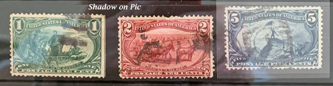 STAMPS - 1898 Trans Mississippi Exposition - Used 1c, 2c, 5c - set5