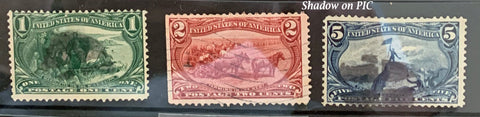 STAMPS - 1898 Trans Mississippi Exposition - Used 1c, 2c, 5c - set6