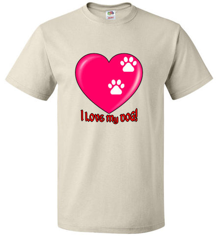 I Love My DOG! - Heart and Paw