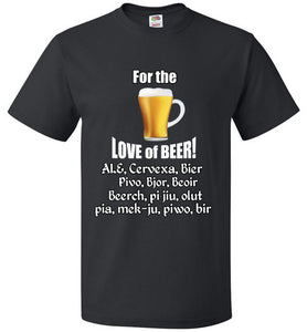 FOR THE LOVE OF BEER