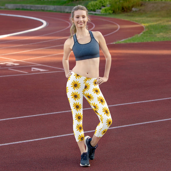 Bee Natural - Capri Leggings - With Wildflowers