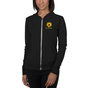 BEE NATURAL - Unisex zip hoodie - w/Wildflower
