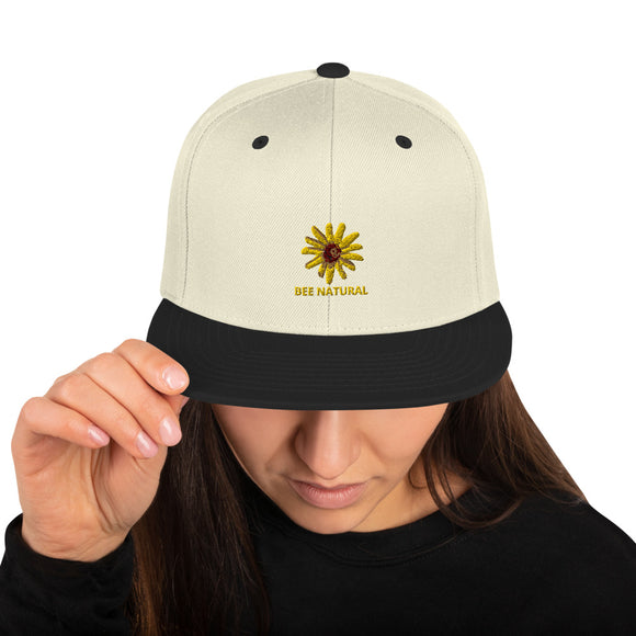 BEE NATURAL - Snapback Hat - w/Wildflower