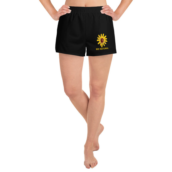 BEE NATURAL - Women's Athletic Short Shorts - w/Wildflower