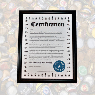 5SDB - Official Certification - Newtown Shirt Company