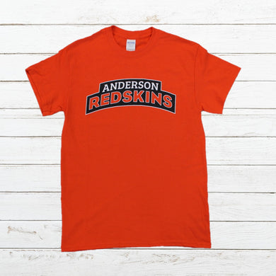 Anderson Redskins - Orange, Shirt, - Newtown Shirt Company