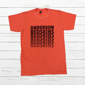 Anderson Redskins - Fade, Shirt, - Newtown Shirt Company