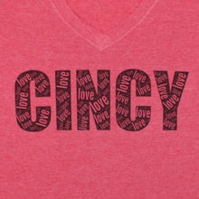 Load image into Gallery viewer, Cincy Love - Red, Shirt, - Newtown Shirt Company