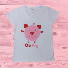 Load image into Gallery viewer, Cu-Pig (Women's V-Neck), Shirt, - Newtown Shirt Company