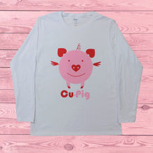 Load image into Gallery viewer, Cu-Pig (Women's Long Sleeve), Shirt, - Newtown Shirt Company