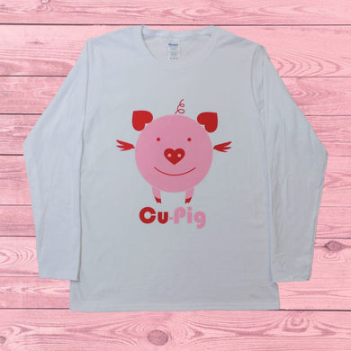 Cu-Pig (Women's Long Sleeve), Shirt, - Newtown Shirt Company