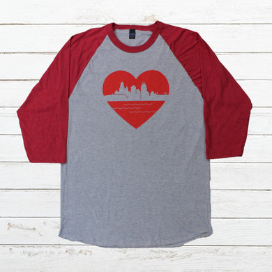 Heart of Cincy - Baseball Tee