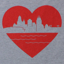 Load image into Gallery viewer, Heart of Cincy - Baseball Tee - Newtown Shirt Company